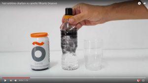 Test extrême charbon vs canette filtrante Dropson